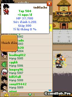 Thủ thuật đi Võ Đài Siêu Hạng game Ngọc Rồng Online