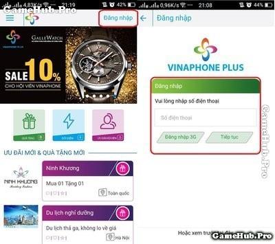 Hướng dẫn cách nhận 1GB lưu lượng Vinaphone miễn phí