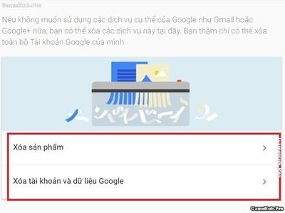 Hướng dẫn cách xóa vĩnh viền tài khoản và Email Google
