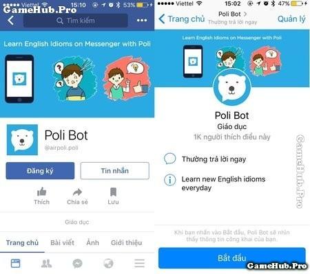 Rèn luyện kỹ năng tiếng anh cùng Messenger Facebook