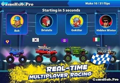 Tải game Nitro Heads - Hack Tiền Đua xe địa hình Android