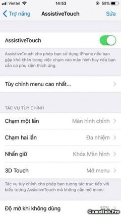 Assistive Touch trên iOS 11 có thể thay luôn phím Home thật