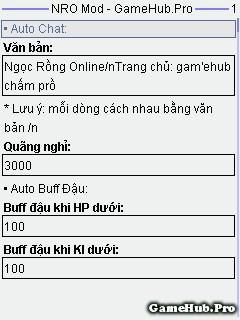 Hack Ngọc Rồng Online 154 Premium v7 cho Java và Android