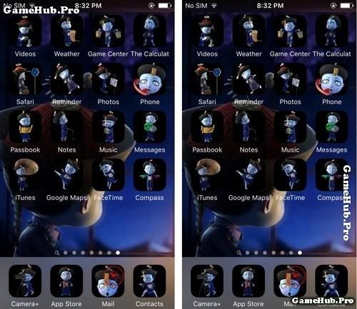 Cách cài Theme Tiểu Cương Thi cho iPhone chưa Jailbreak