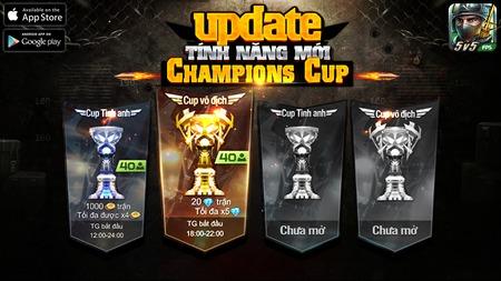 Tập Kích 2.0 tính năng Champion Cup cùng chức năng mới