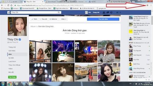 Cách tải toàn bộ ảnh trong album Facebook về máy tính