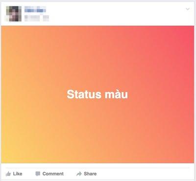 Cách viết Status màu với nền xanh đỏ tím vàng trên Facebook