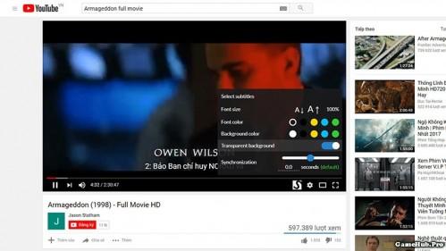 Cách bật phụ đề cho các Video không hỗ trợ trên Youtube