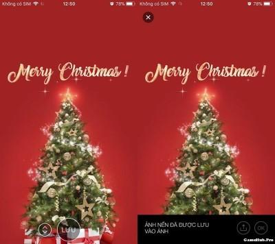 Hướng dẫn tải hình động giáng sinh trên iPhone iPad dễ dàng
